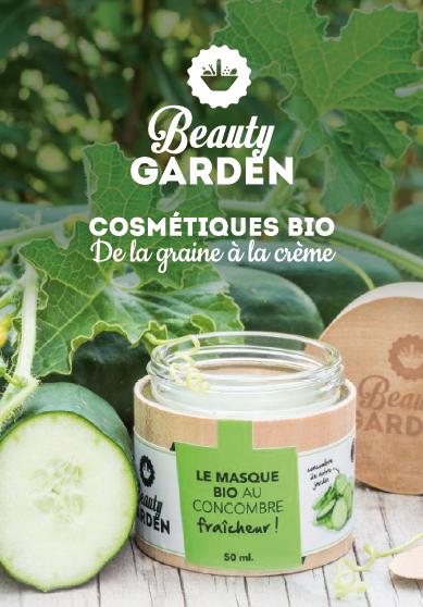 Pot de crème cosmétique bio beauty garden